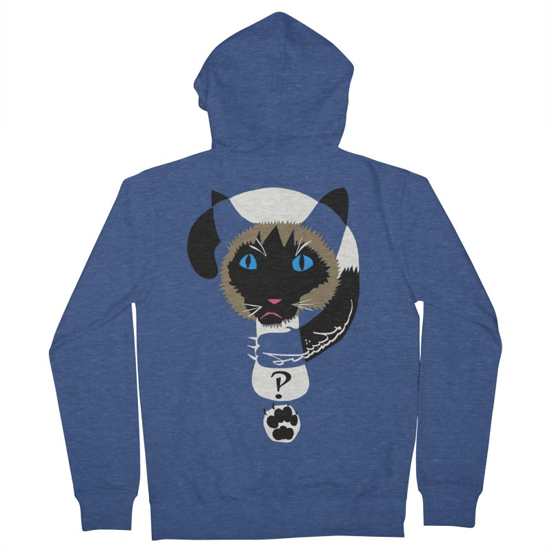 Interrobang Cat Women's French Terry Zip-Up Hoody by DevilishDetails's Artist Shop
