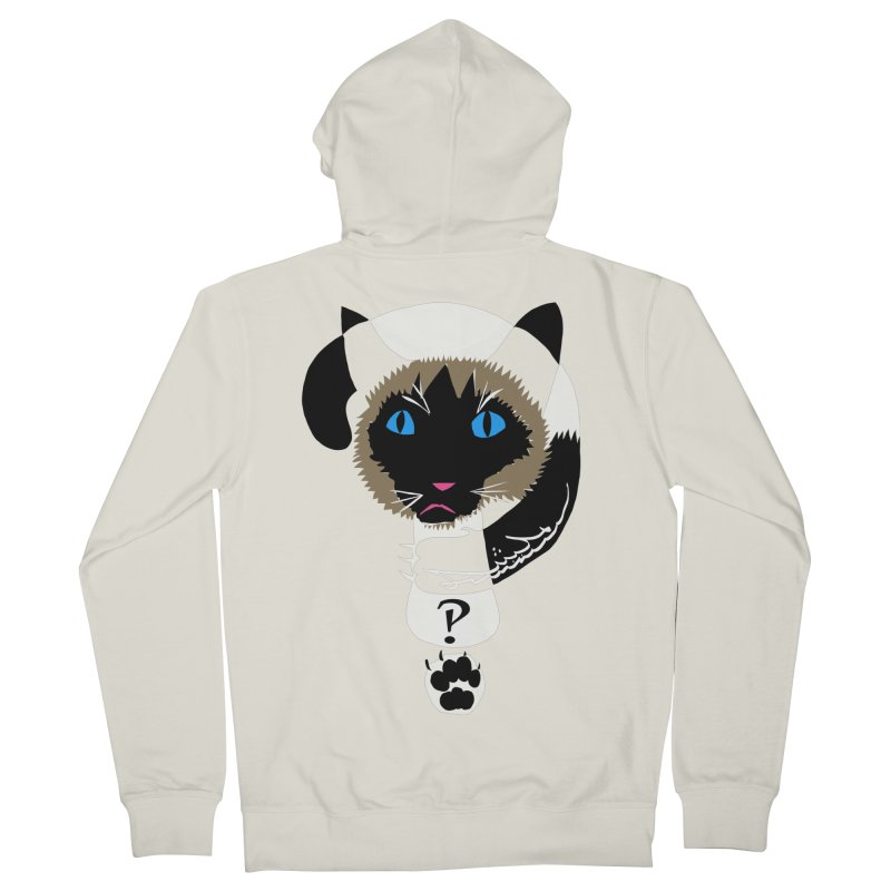 Interrobang Cat Women's Zip-Up Hoody by DevilishDetails's Artist Shop