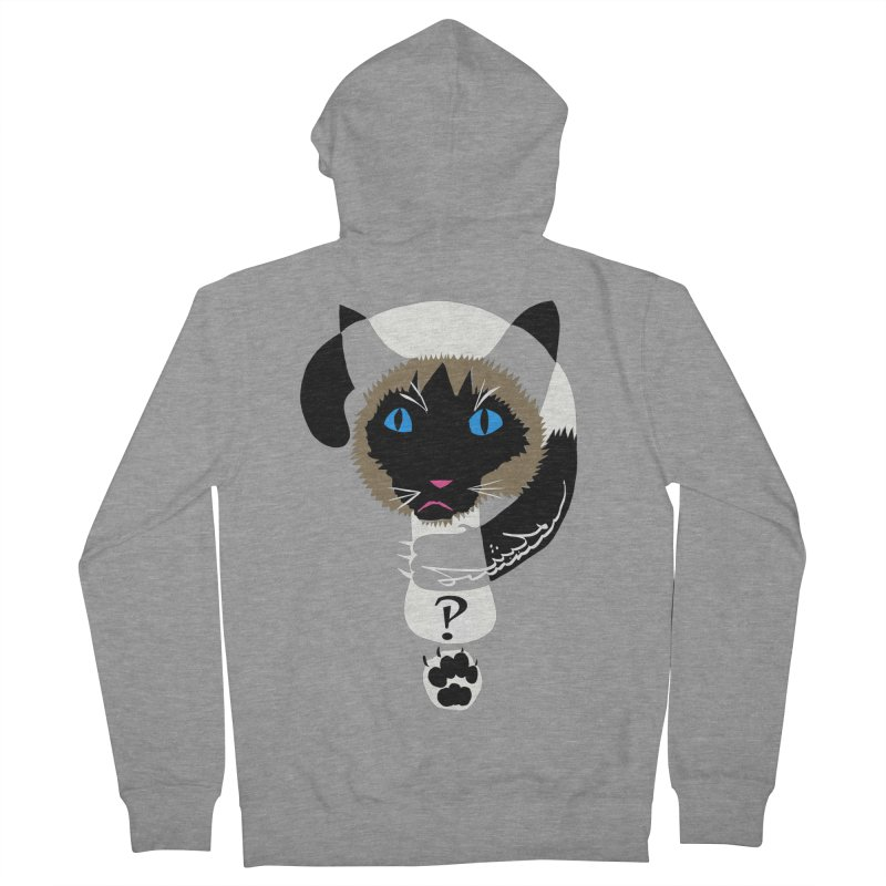 Interrobang Cat Men's French Terry Zip-Up Hoody by DevilishDetails's Artist Shop