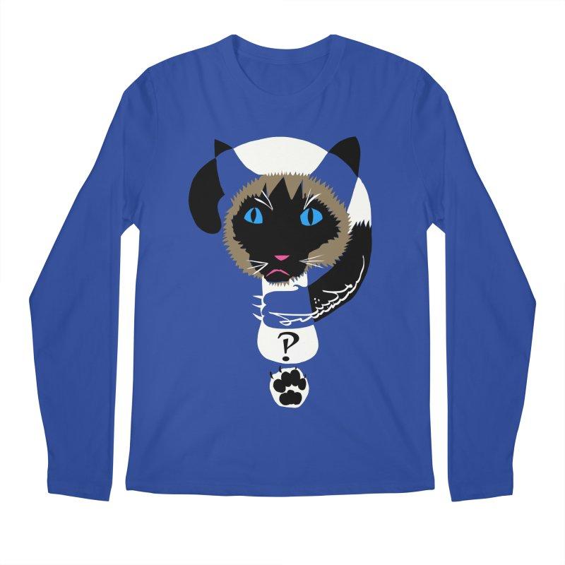 Interrobang Cat Men's Regular Longsleeve T-Shirt by DevilishDetails's Artist Shop