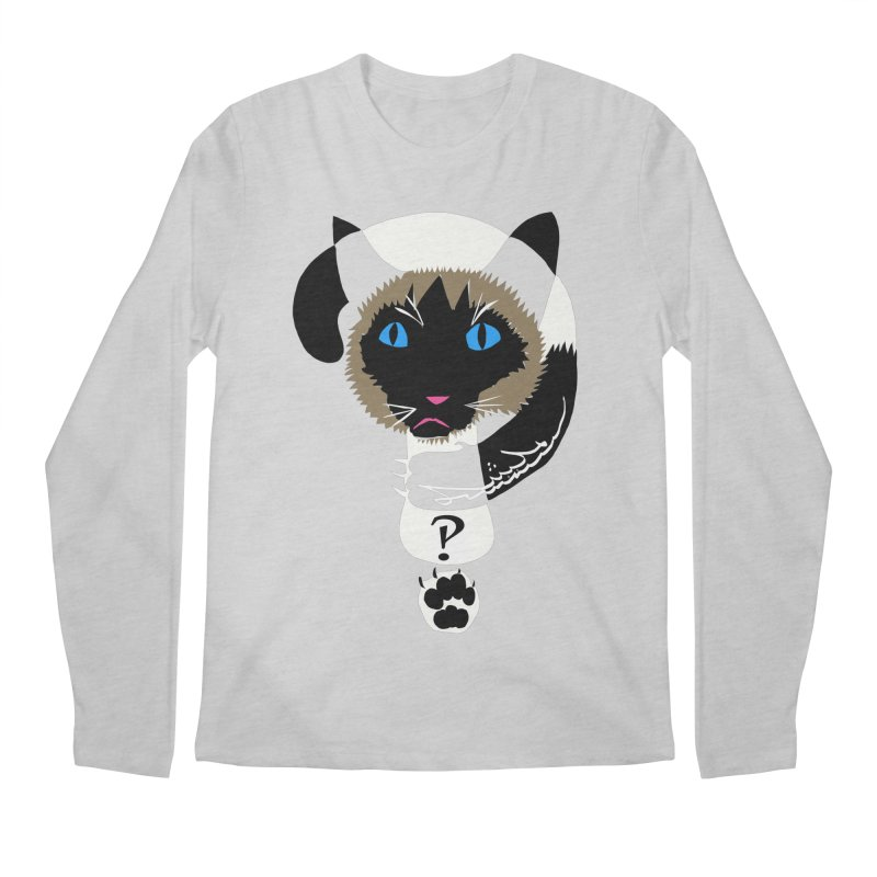 Interrobang Cat Men's Regular Longsleeve T-Shirt by DevilishDetails's Artist Shop