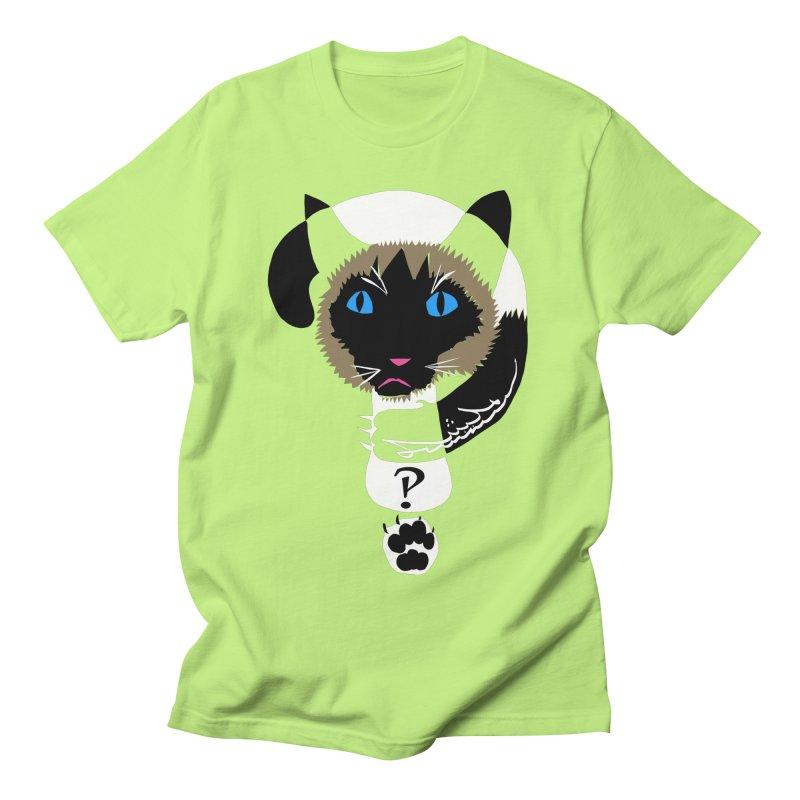 Interrobang Cat Men's Regular T-Shirt by DevilishDetails's Artist Shop