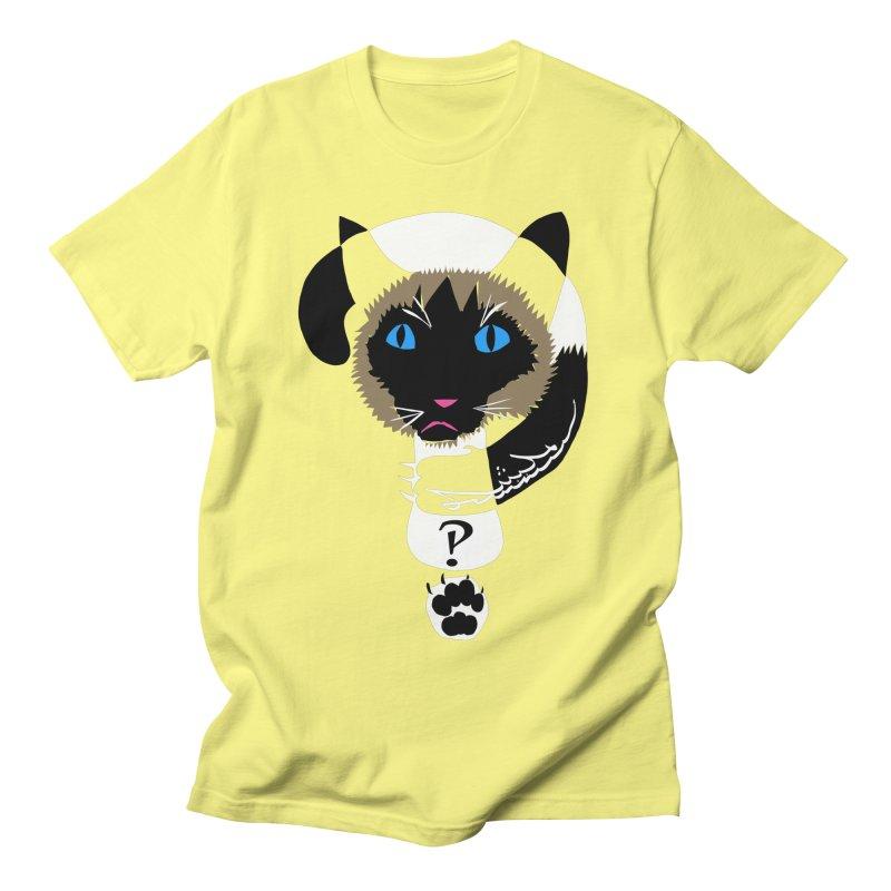 Interrobang Cat Women's Regular Unisex T-Shirt by DevilishDetails's Artist Shop