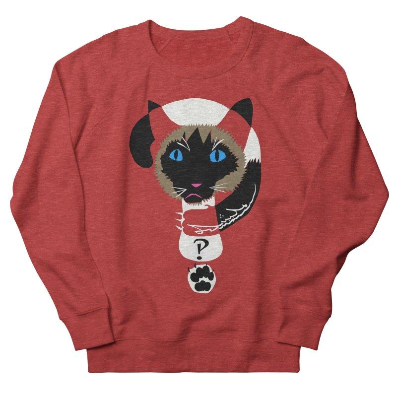 Interrobang Cat Women's French Terry Sweatshirt by DevilishDetails's Artist Shop