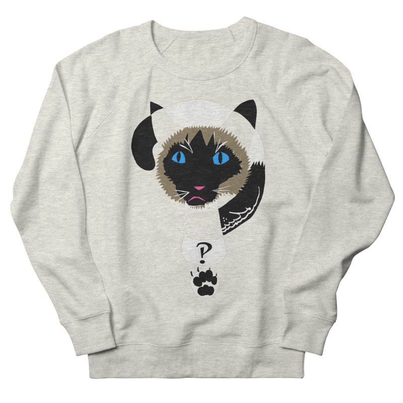 Interrobang Cat Women's French Terry Sweatshirt by DevilishDetails's Artist Shop