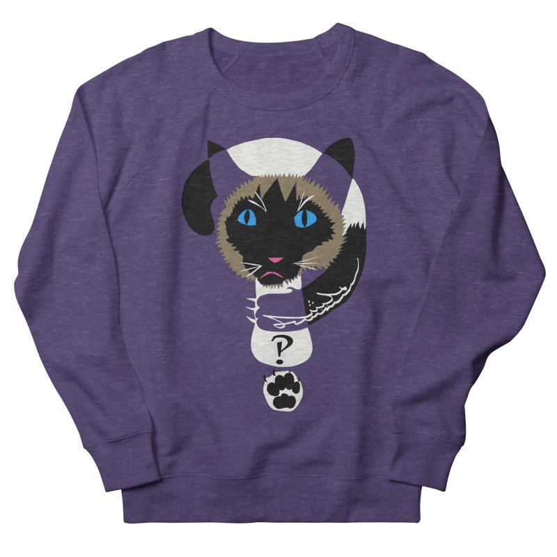 Interrobang Cat Men's Sweatshirt by DevilishDetails's Artist Shop