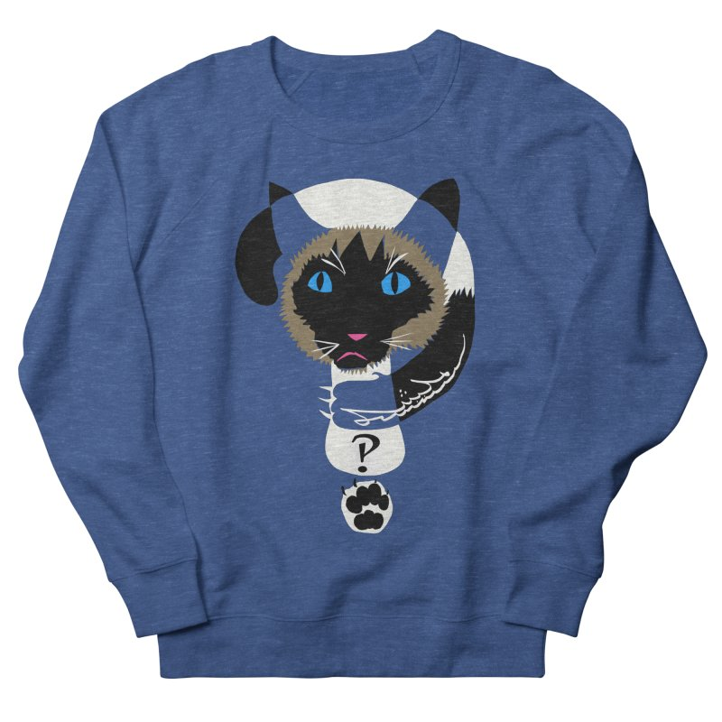 Interrobang Cat Men's French Terry Sweatshirt by DevilishDetails's Artist Shop