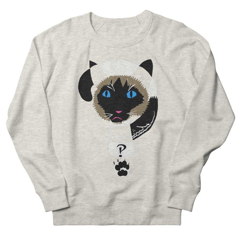 Interrobang Cat Men's French Terry Sweatshirt by DevilishDetails's Artist Shop