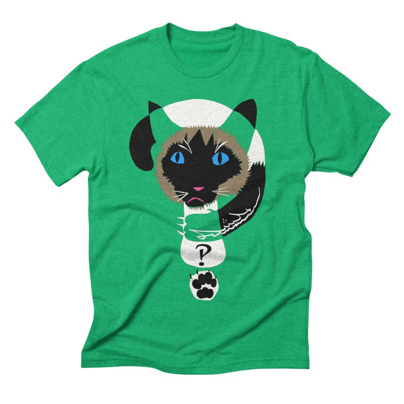 Interrobang Cat Men's Triblend T-Shirt by DevilishDetails's Artist Shop