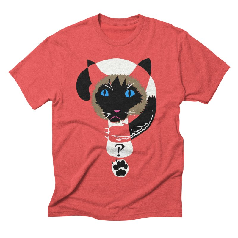 Interrobang Cat Men's Triblend T-shirt by DevilishDetails's Artist Shop