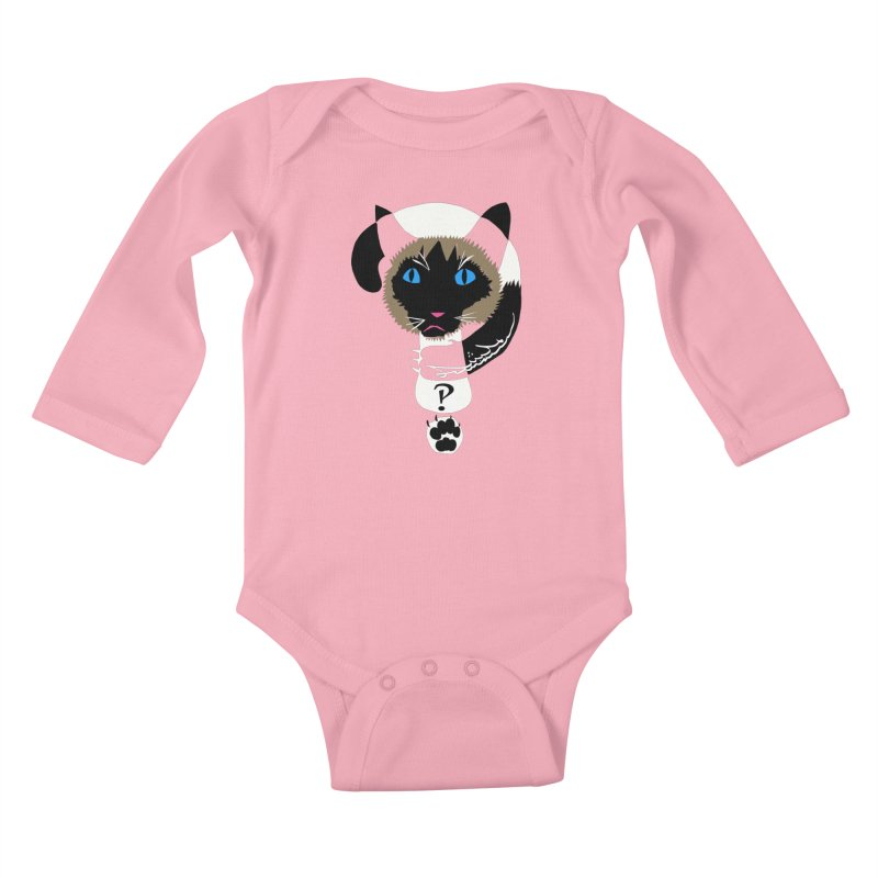 Interrobang Cat Kids Baby Longsleeve Bodysuit by DevilishDetails's Artist Shop