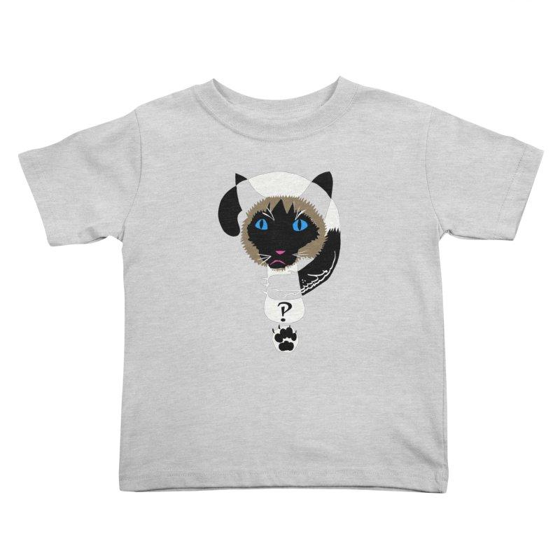 Interrobang Cat Kids Toddler T-Shirt by DevilishDetails's Artist Shop