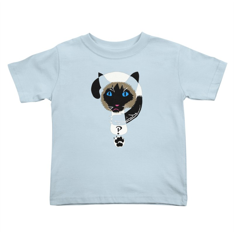 Interrobang Cat Kids Toddler T-Shirt by DevilishDetails's Artist Shop