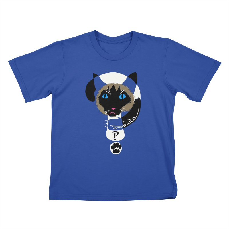 Interrobang Cat Kids T-Shirt by DevilishDetails's Artist Shop