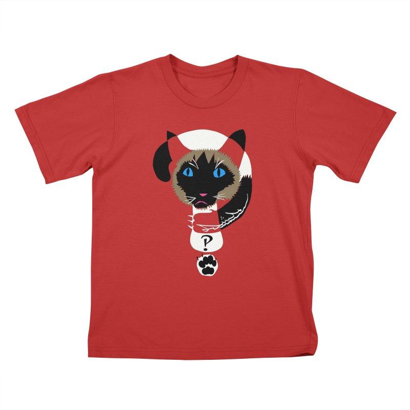 Interrobang Cat Kids T-shirt by DevilishDetails's Artist Shop