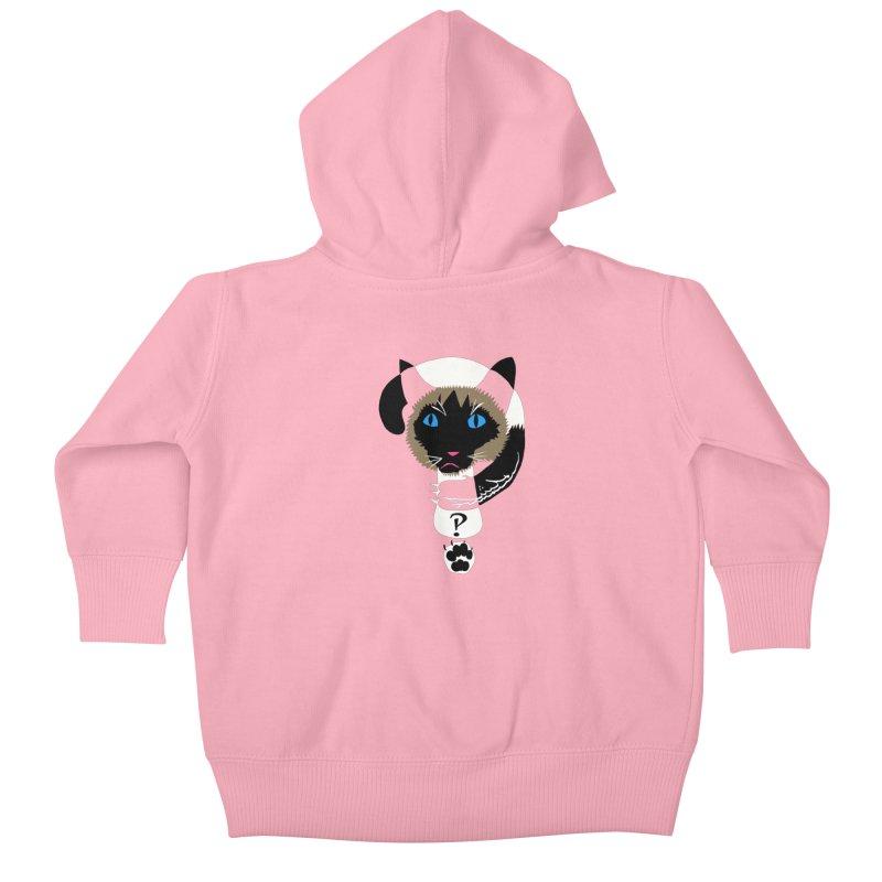 Interrobang Cat Kids Baby Zip-Up Hoody by DevilishDetails's Artist Shop