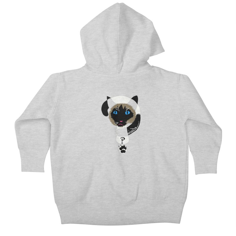 Interrobang Cat Kids Baby Zip-Up Hoody by DevilishDetails's Artist Shop