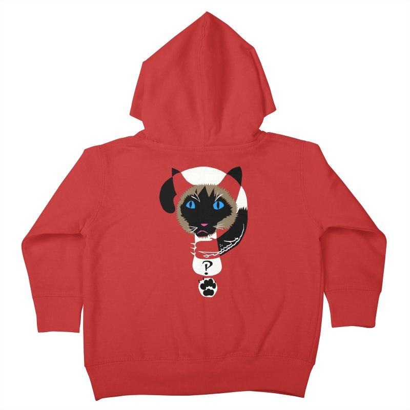 Interrobang Cat Kids Toddler Zip-Up Hoody by DevilishDetails's Artist Shop