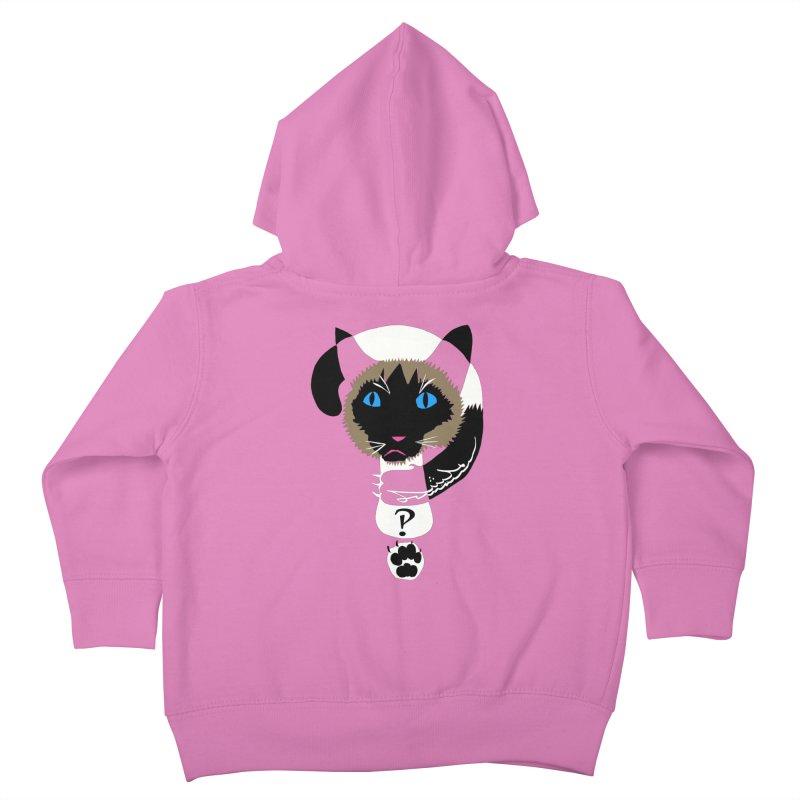 Interrobang Cat Kids Toddler Zip-Up Hoody by DevilishDetails's Artist Shop