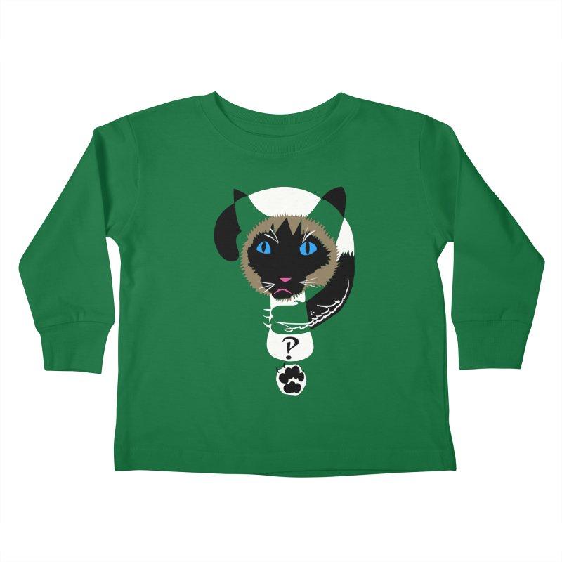 Interrobang Cat Kids Toddler Longsleeve T-Shirt by DevilishDetails's Artist Shop
