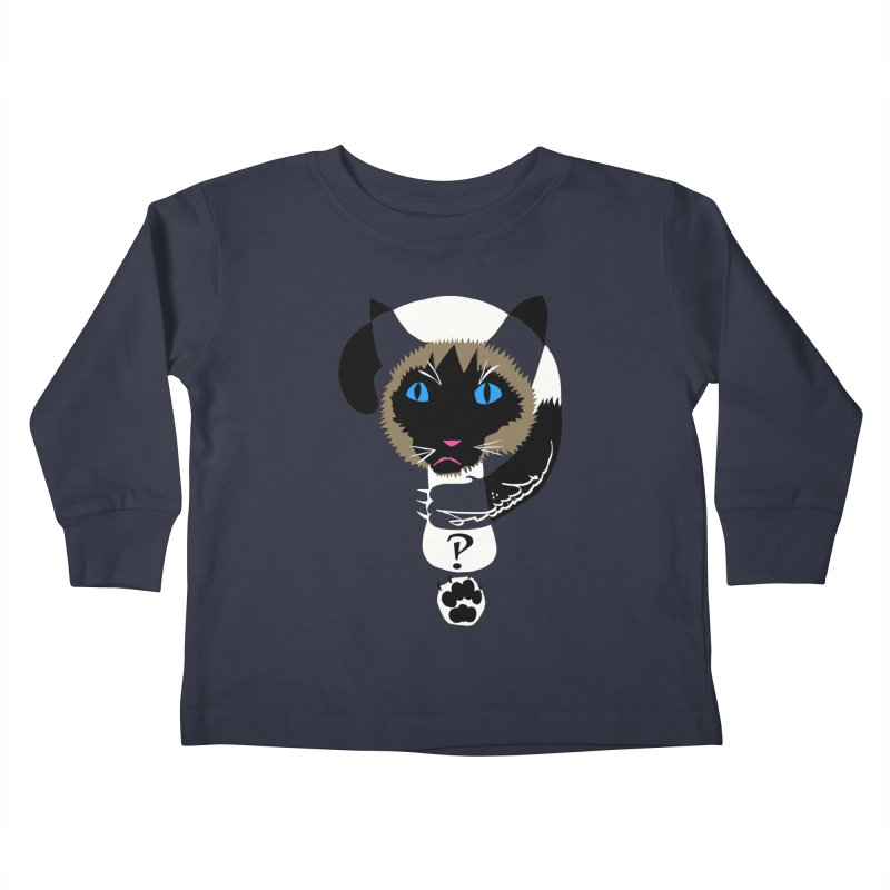Interrobang Cat Kids Toddler Longsleeve T-Shirt by DevilishDetails's Artist Shop