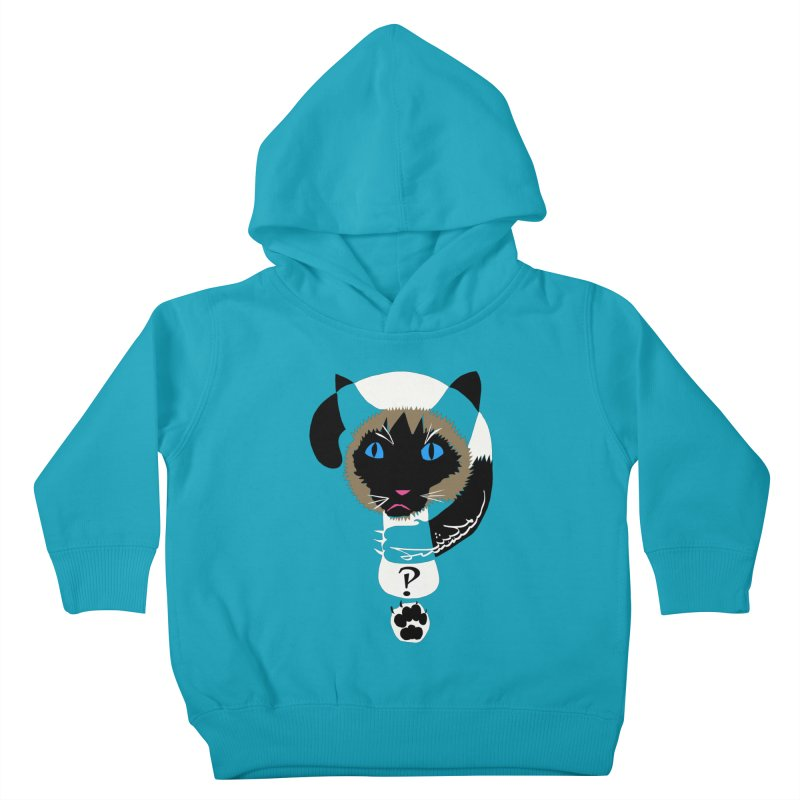 Interrobang Cat Kids Toddler Pullover Hoody by DevilishDetails's Artist Shop