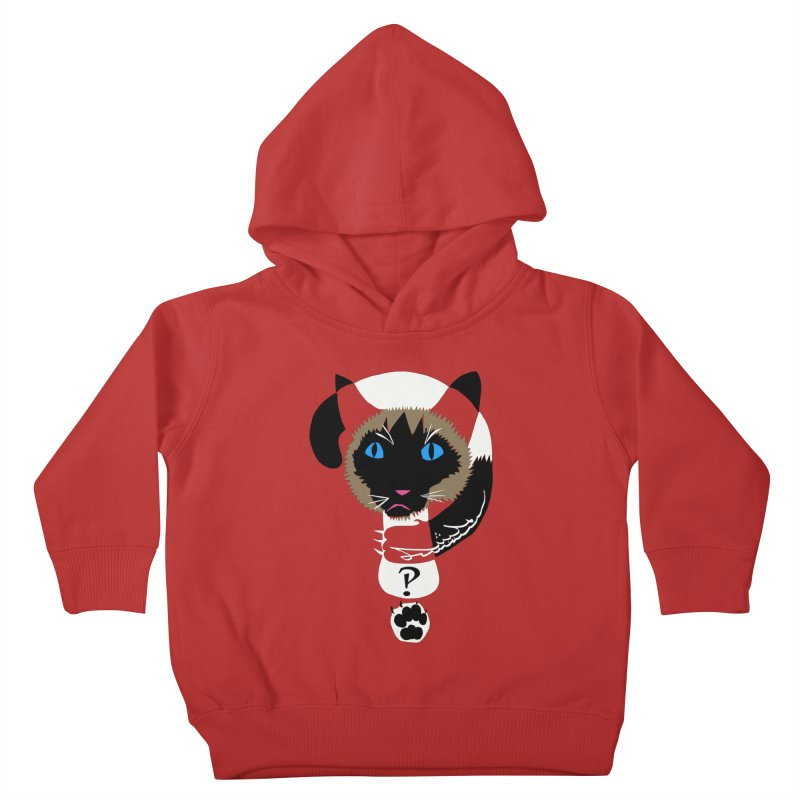 Interrobang Cat Kids Toddler Pullover Hoody by DevilishDetails's Artist Shop