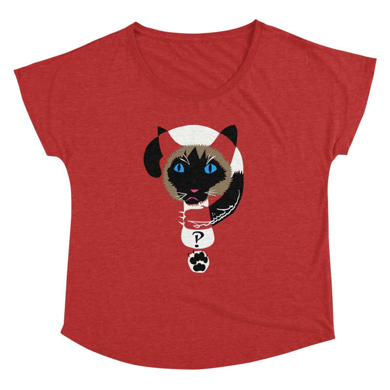 Interrobang Cat Women's Dolman Scoop Neck by DevilishDetails's Artist Shop