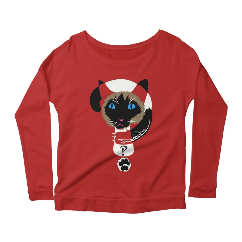 Interrobang Cat Women's Longsleeve Scoopneck  by DevilishDetails's Artist Shop