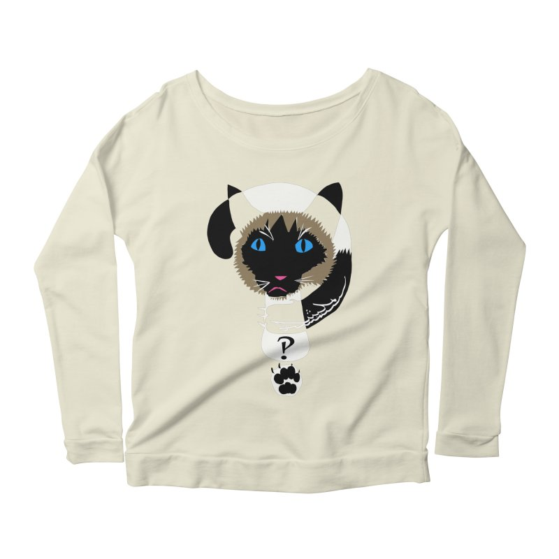 Interrobang Cat Women's Scoop Neck Longsleeve T-Shirt by DevilishDetails's Artist Shop
