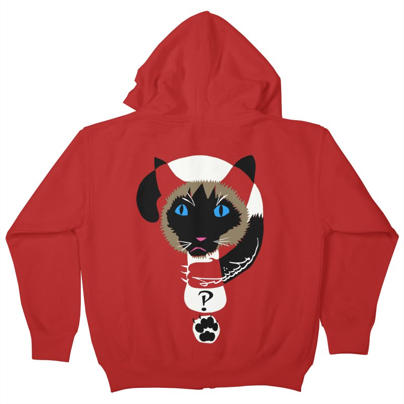 Interrobang Cat Kids Zip-Up Hoody by DevilishDetails's Artist Shop
