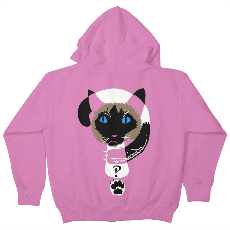 Interrobang Cat Kids Zip-Up Hoody by DevilishDetails's Artist Shop