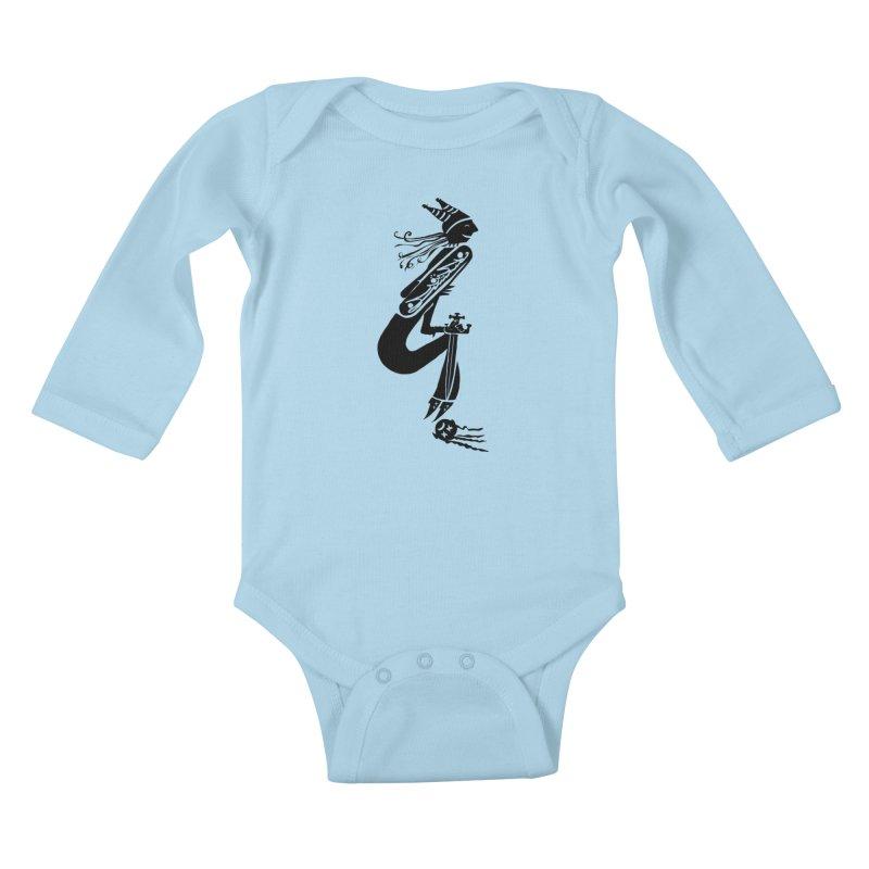 Irony Kids Baby Longsleeve Bodysuit by DevilishDetails's Artist Shop