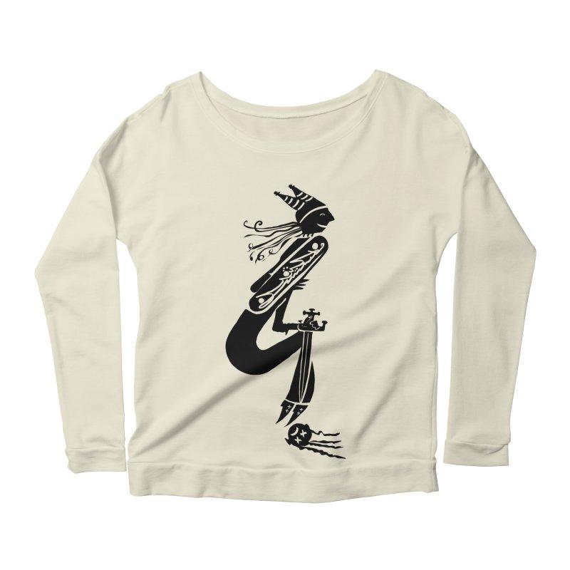 Irony Women's Scoop Neck Longsleeve T-Shirt by DevilishDetails's Artist Shop