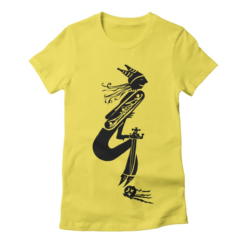 Irony Women's Fitted T-Shirt by DevilishDetails's Artist Shop
