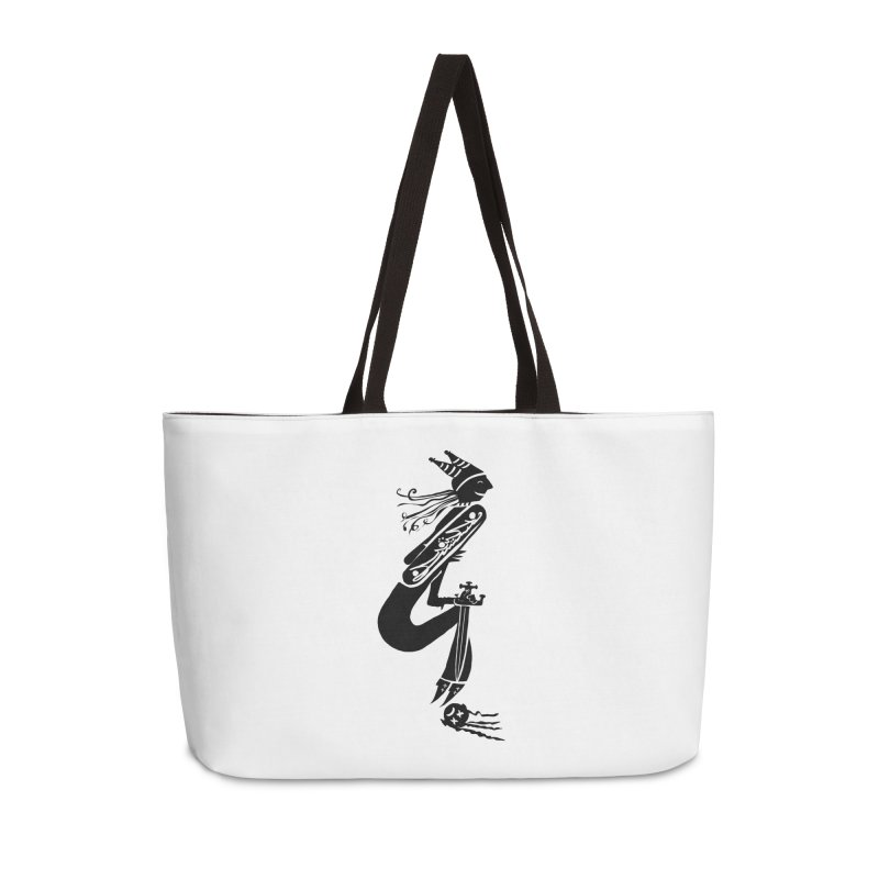 Irony Accessories Weekender Bag Bag by DevilishDetails's Artist Shop