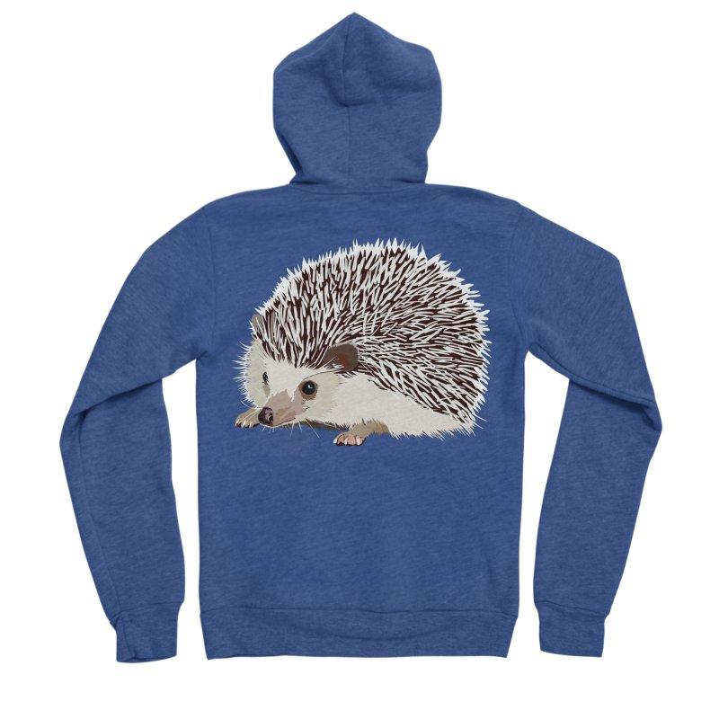 Happy Hedgehog Men's Sponge Fleece Zip-Up Hoody by DevilishDetails's Artist Shop