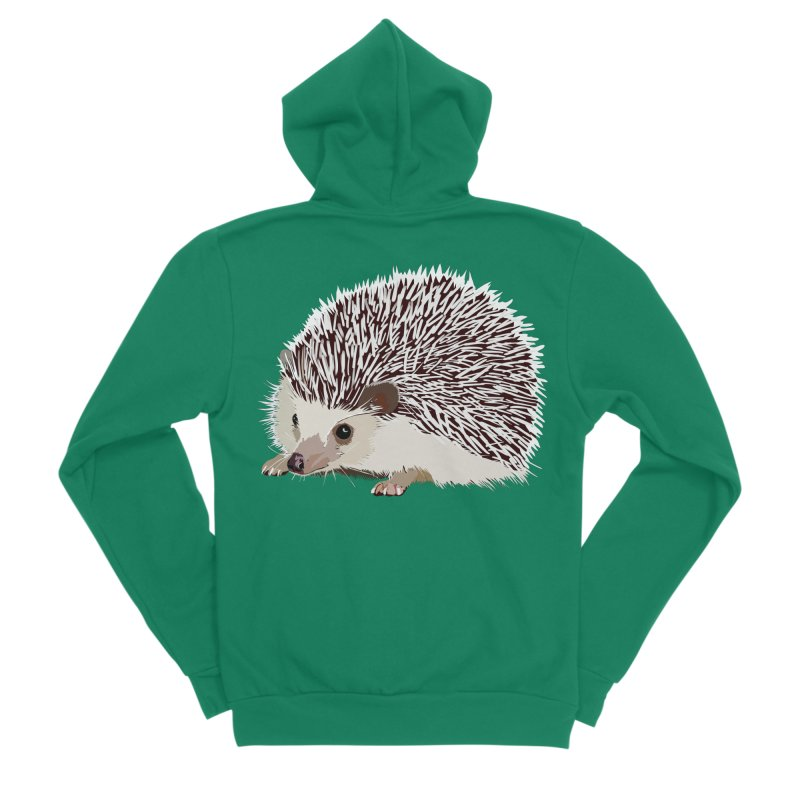 Happy Hedgehog Men's Sponge Fleece Zip-Up Hoody by DevilishDetails's Artist Shop