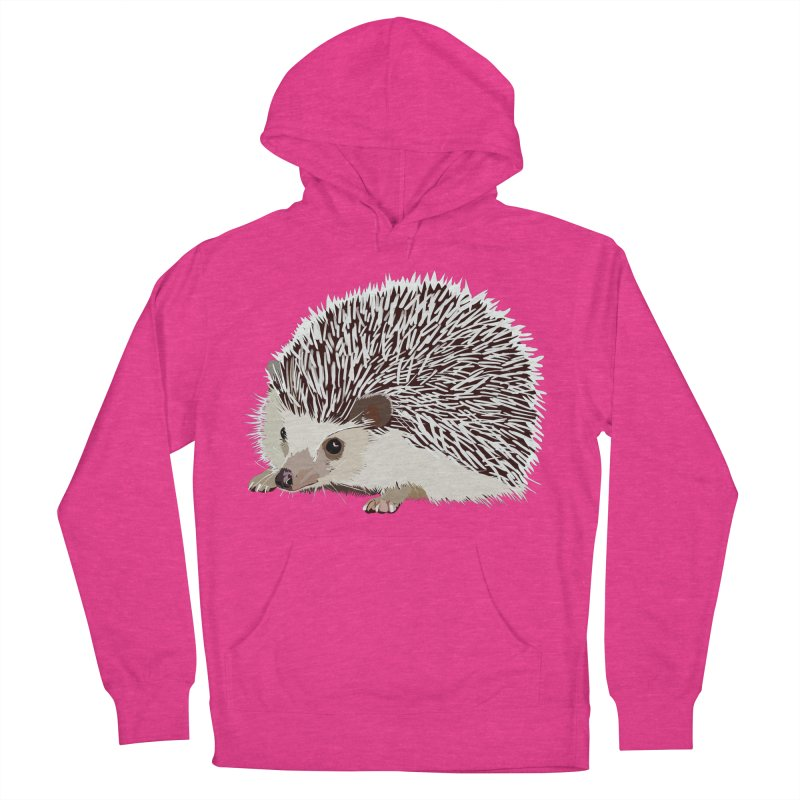 Happy Hedgehog Women's French Terry Pullover Hoody by DevilishDetails's Artist Shop