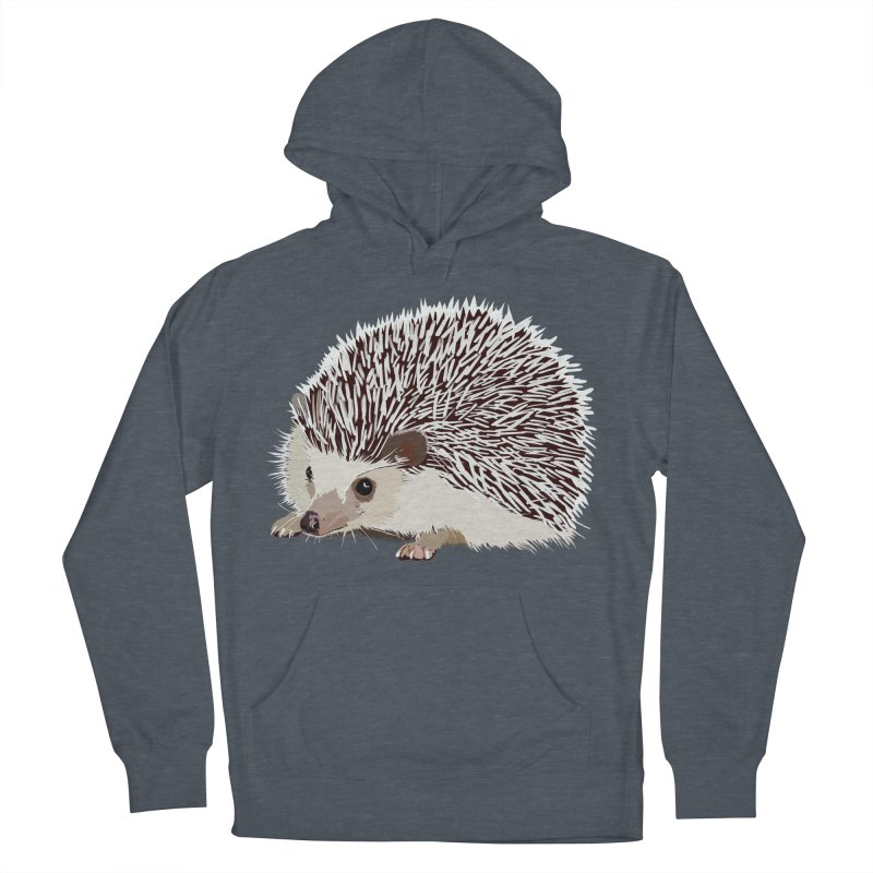Happy Hedgehog Men's French Terry Pullover Hoody by DevilishDetails's Artist Shop
