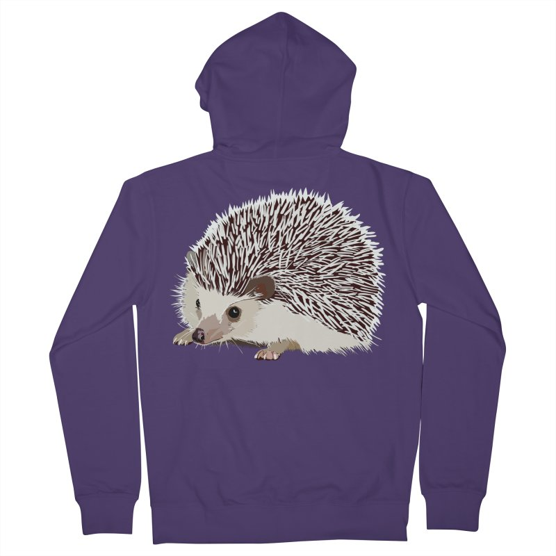 Happy Hedgehog Women's French Terry Zip-Up Hoody by DevilishDetails's Artist Shop