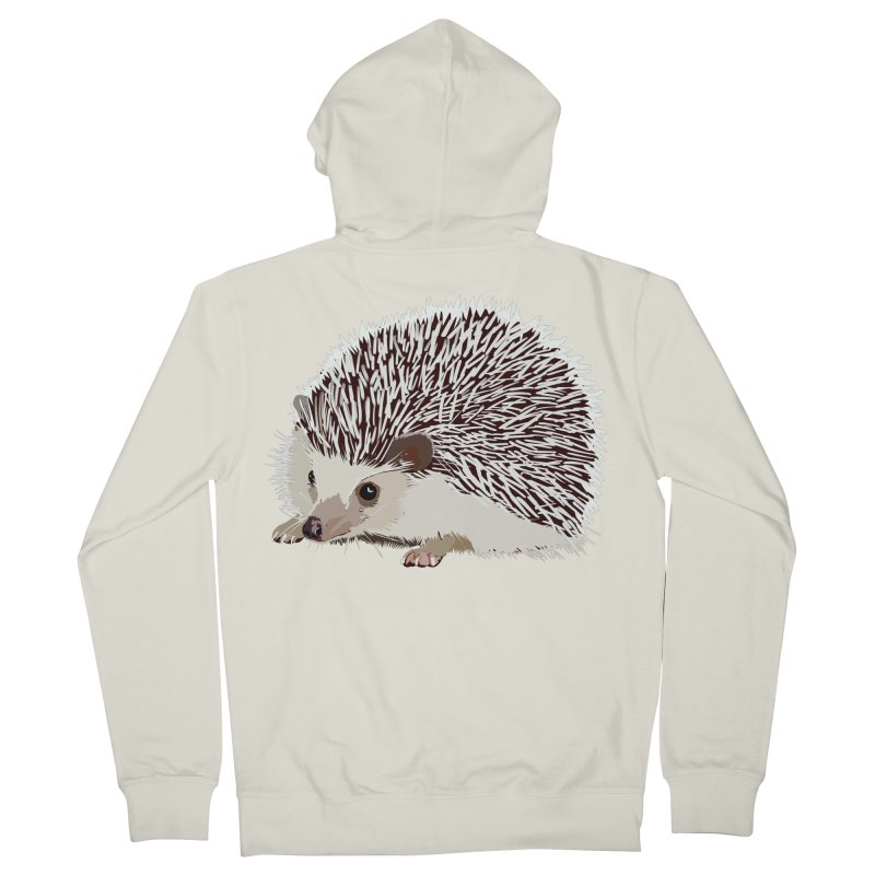 Happy Hedgehog Women's Zip-Up Hoody by DevilishDetails's Artist Shop