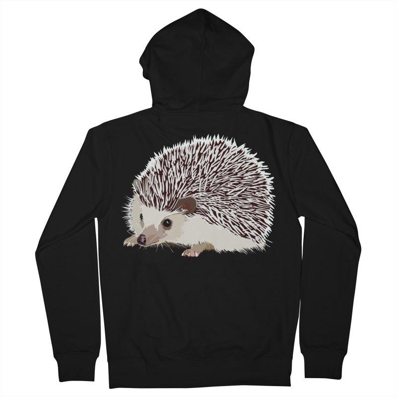 Happy Hedgehog Men's Zip-Up Hoody by DevilishDetails's Artist Shop