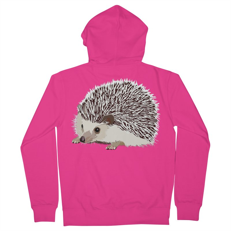 Happy Hedgehog Men's French Terry Zip-Up Hoody by DevilishDetails's Artist Shop