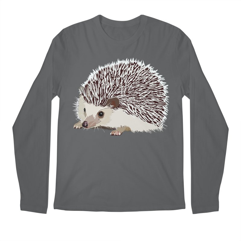 Happy Hedgehog Men's Regular Longsleeve T-Shirt by DevilishDetails's Artist Shop