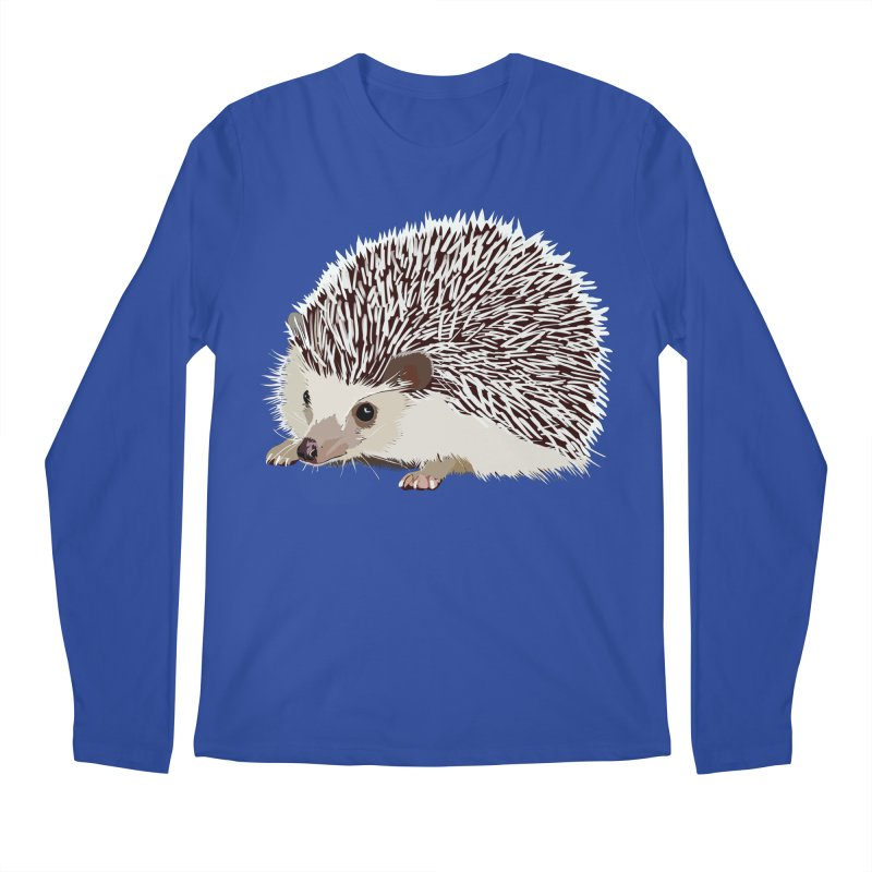 Happy Hedgehog Men's Regular Longsleeve T-Shirt by DevilishDetails's Artist Shop