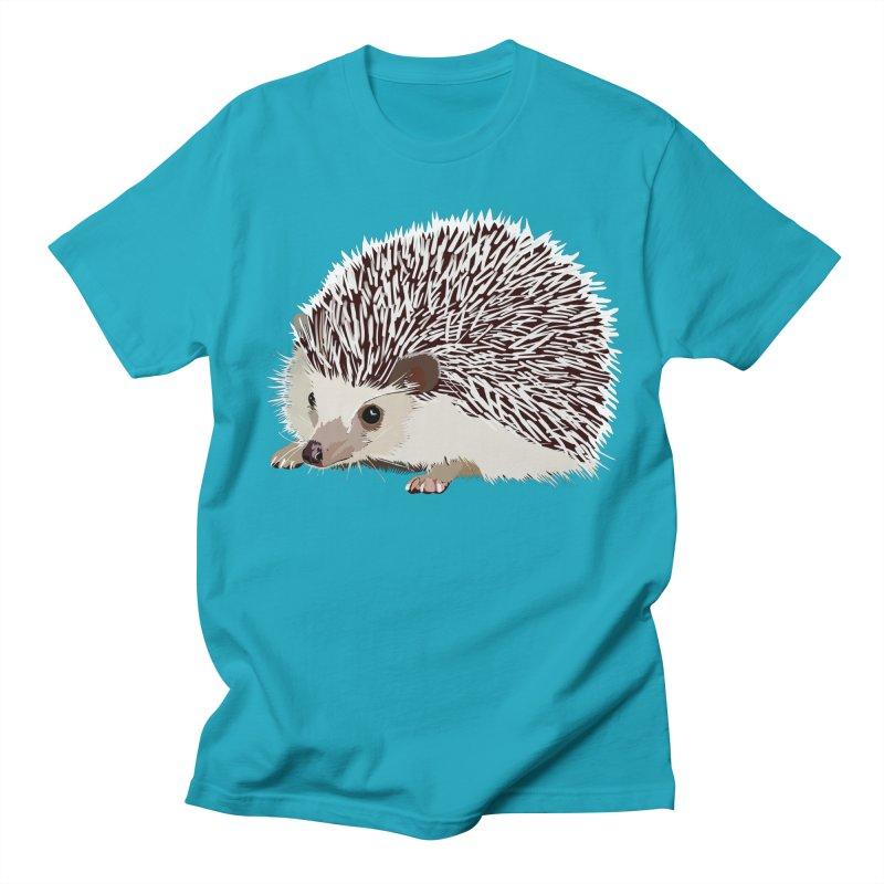 Happy Hedgehog Men's Regular T-Shirt by DevilishDetails's Artist Shop