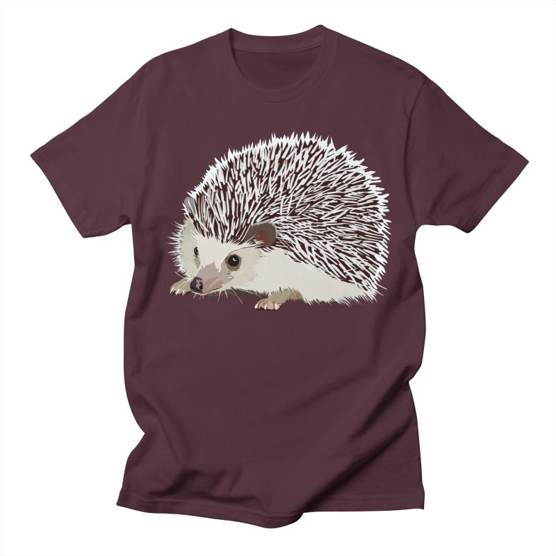 Happy Hedgehog Men's Regular T-Shirt by DevilishDetails's Artist Shop