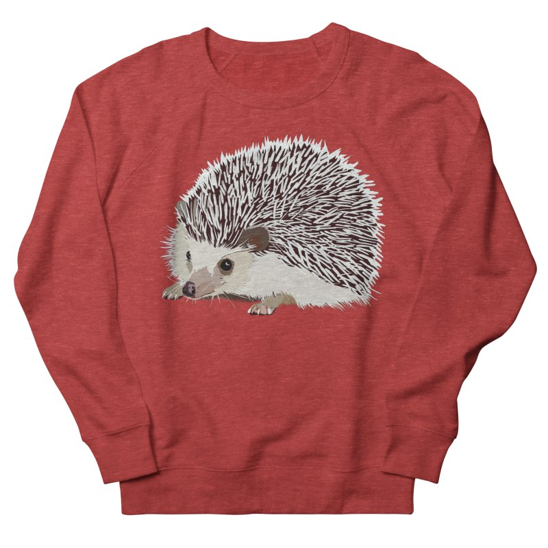 Happy Hedgehog Women's French Terry Sweatshirt by DevilishDetails's Artist Shop