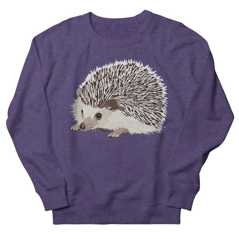 Happy Hedgehog Men's French Terry Sweatshirt by DevilishDetails's Artist Shop